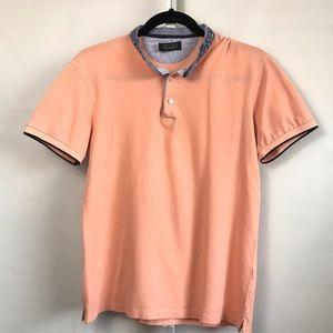 Zara Man men's peach short sleeve shirt small
